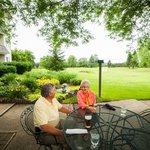 Enjoy indoor or outdoor dinning in the Terrace Room Restaurant
