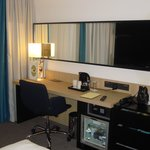 Writing desk and HD TV
