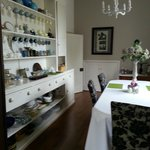 Dining room - large window viewing walled garden