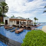 Swimming pool and Azure Beach Grill.