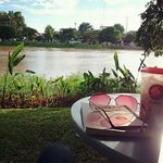 Outdoor area on the riverside at Wawee Himping in Chiang Mai