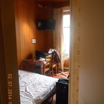 View from passage, through toilet, into the 'small double room'