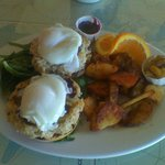 Crab Cakes Benedict Best in the NW