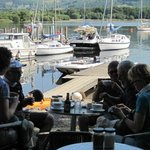 View of the marina as you have your food