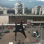 Calder sculpture in front of Train Station