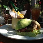 Delicious Chicken Burger with Avocado