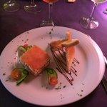 Millefeuille crabe et saumon ;) excellent !
