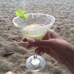 Cucumber cilantro martini, good but pricey!
