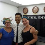 Hanoi Crystal hotel July 2014. Extremely friendly staff!