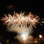Firework finish to evening