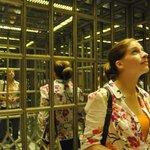 mirror paneled elevator