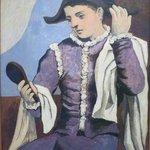 ピカソ,鏡を持つ道化師
