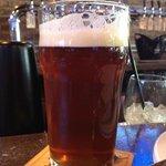 3/4 filled beer