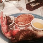 stuffed lobster with cheesy potatoes,,,,yummy