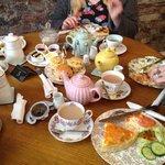 Tea and treats! Yum yum!