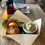 Crab Sandwich and Blue Cheese Coleslaw $16.