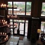 Lobby and breakfast area, from 2nd floor balcony