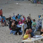 Still on the beach at 9.30 p.m.!