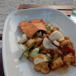 rock lobster at the beach bar!