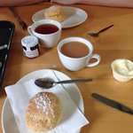 Cream tea at the cafe
