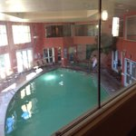 Pool hot tub exercise area