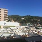 Blick vom Hotel Balkon. Zimmer 223.