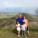 Top of Mt. Brandon - approx. 6 mile hike that our 8 & 5 year olds did on their own!
