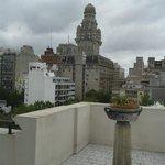 vista do terraço onde fica restaurante