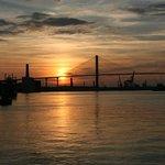 Setting Sun over the Savannah River