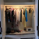 One of two huge closets
