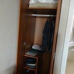 Unico espacio disponible para guardar ropa