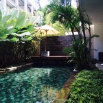 Swiming pool at sesapi villa downstairs