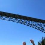 Going under Deception Pass Bridge