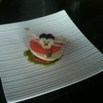 amuse bouche with slice of watermelon
