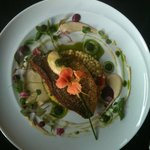 flower topped halibut