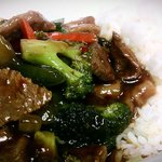 Carry-out: Szechuan Beef with Steamed Rice