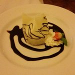 Amazing white and choc mousse - room service