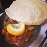 Shrimp with poori