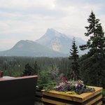 Evening view from Juniper Bistro Banff