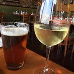 Tasty wine and beer