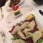 Carpaccio and meatballs - fantastic!