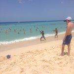 gimnasia en la playa