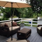 The private deck of the Admiral Suite. A perfect place for morning coffee.