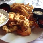 Fried oysters with shrimp.Can't beat it