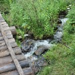Another bridge over a rushing creek.