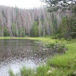 One of the lakes at the end of the trail.  Very quiet and serene.