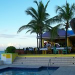 Pool and outdoor restaurant