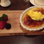 cremme brulee with lemon butter