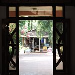 View from dining room of gift shop