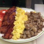 all american breakfast, its alot of food for $7.95
